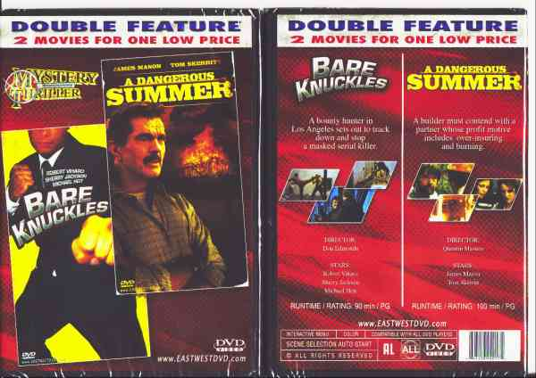 BARE KNUCKLES/ A DANGEROUS SUMMER DVD movie