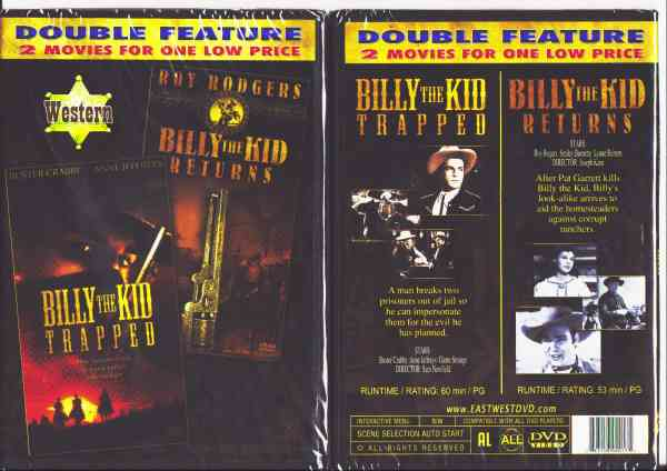 BILLY THE KID TRAPPED/ BILLY THE KID RETURNS DVD movie