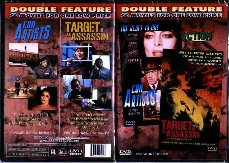CON ARTISTS/ TARGET OF AN ASSASSIN $1 DVDs SALE MART