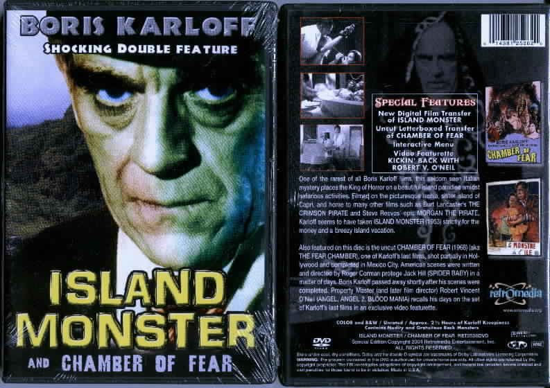 ISLAND MONSTER/ CHAMBER OF FEAR DVD movie
