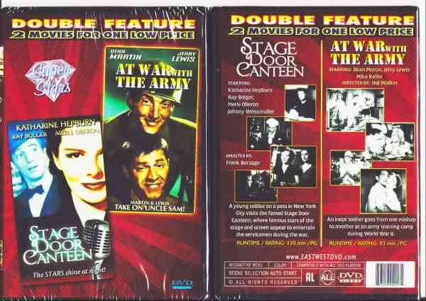STAGE DOOR CANTEEN/ AT WAR WITH THE ARMY DVD movie