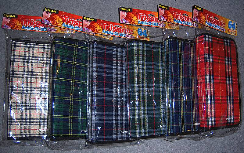 64 Disc Holder Kilt Plaid Cases